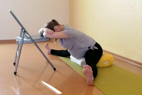 Upavistha konasana, Yoga für Schwangere